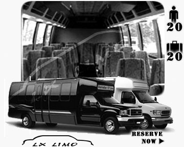 Lxlimo Mini bus for hire in Ontario