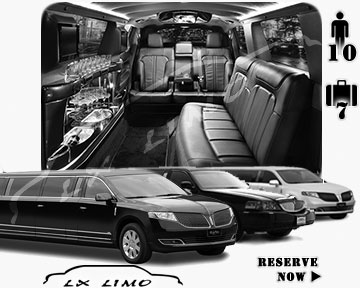 Stretch Limo airport shuttle in Lxlimo
