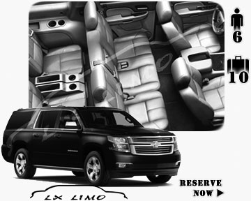 SUV Suburban for hire in Lxlimo